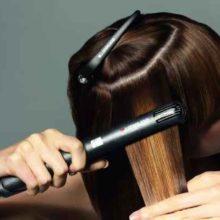 Укладка волос утюжком